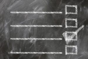 Blackboard checklist