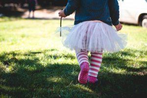 Child in pink tutu